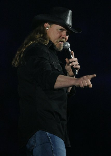 Trace Adkins performs before a sold-out crowd during the 2009 Houston Livestock Show and Rodeo at Reliant Stadium in Houston, Texas on March 7, 2009. (UPI Photo/Aaron M. Sprecher)