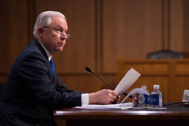 Attorney General Jeff Sessions announced the Justice Department is opening up a proposal to ban bump stocks for public comments. File Photo by Kevin Dietsch/UPI