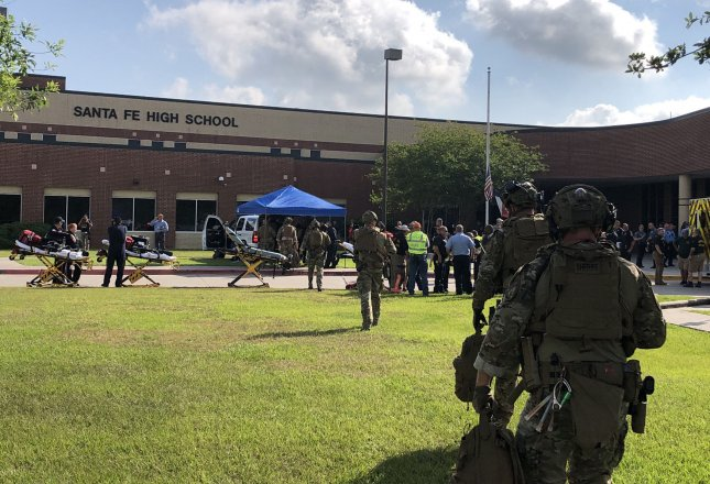 Texas Gov. Greg Abbott released a 40-point school safety plan Wednesday in response to a shooting at Santa Fe High School in which a 17-year-old student shot and killed 10 people on May 18. Photo courtesy of the Harris County Sheriff