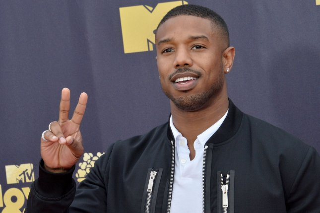 Michael B. Jordan will be portraying hitman Columbus in a film adaptation of The Silver Bear. File Photo by Jim Ruymen/UPI