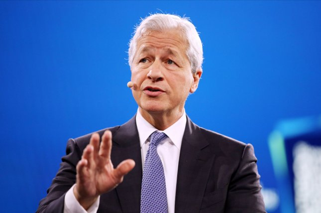 Dimon is now awake, alert and recovering well, company officials said. File Photo by Monika Graff/UPI