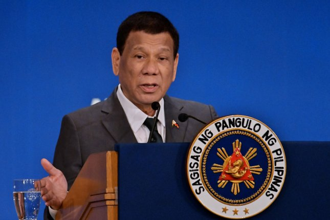 Philippines President Rodrigo Duterte threatened to jail or deport people who refuse to get vaccinated against COVID-19. File Photo by Keizo Mori/UPI