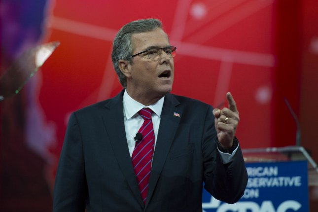 Former Florida Gov. Jeb Bush speaks at the Conservative Political Action Conference (CPAC) in National Harbor, Maryland on February 27. Photo by Molly Riley/UPI