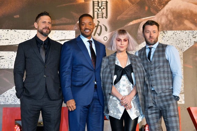 (L-R) Director David Ayer, Will Smith, Noomi Rapace and Joel Edgerton of Bright. Netflix is developing a sequel that will bring back Smith and Edgerton. File Photo by Keizo Mori/UPI