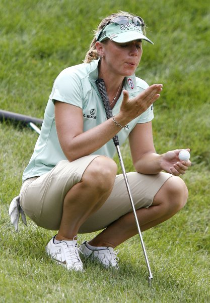 Annika Sorenstam, shown at the World Match Play championship in New York, July 2007.