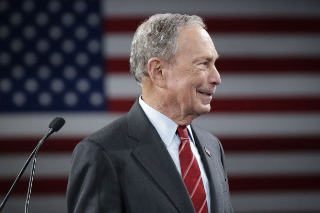 Democratic presidential candidate Mike Bloomberg said Monday he will increase Social Security benefits under his new plan. Photo by John Angelillo/UPI