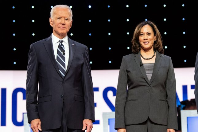 Democratic presidential candidate Joe Biden and his selection for vice president, Kamala Harris, appeared together in public for the first time Wednesday as they criticized the Trump administration's coronavirus response. File Photo by Kevin Dietsch/UPI