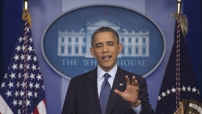 President Barack Obama speaks on the ongoing government shutdown at the White House on October 8, 2013. UPI/Kevin Dietsch