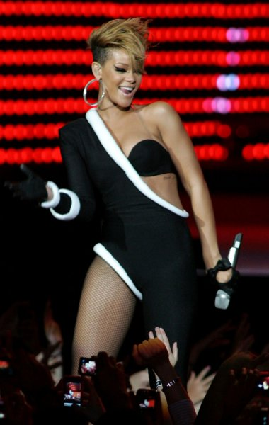 Rihanna performs in concert at the Pepsi Super Bowl Fan Jam in Miami Beach on February 4, 2010. UPI/Michael Bush