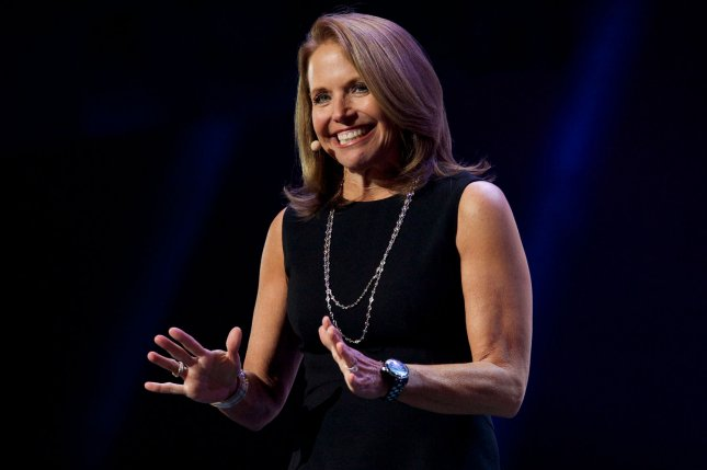 Katie Couric takes the stage at the Yahoo! keynote address during the 2014 International CES, a trade show of consumer electronics, in Las Vegas, Nev., on Jan. 7, 2014. Photo by Molly Riley/UPI