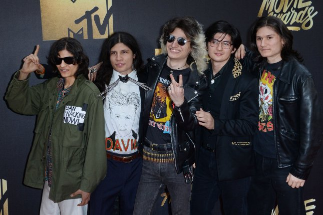 'The Wolfpack' Angulo Brothers attend the MTV Movie Awards at Warner Bros. Studios in Burbank, California on April 9, 2016. Photo by Jim Ruymen/UPI