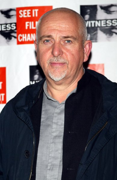 Peter Gabriel arrives for the Focus For Change: Benefit Dinner and Concert in Support of WITNESS at the Hammerstein Ballroom in New York on November 7, 2007. (UPI Photo/Laura Cavanaugh)