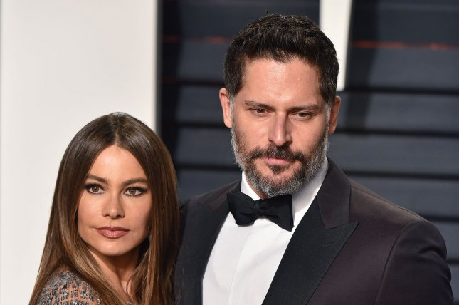 Joe Manganiello (R) and Sofia Vergara attend the Vanity Fair Oscar party on February 26. The couple celebrated their first wedding anniversary in November. File Photo by Christine Chew/UPI