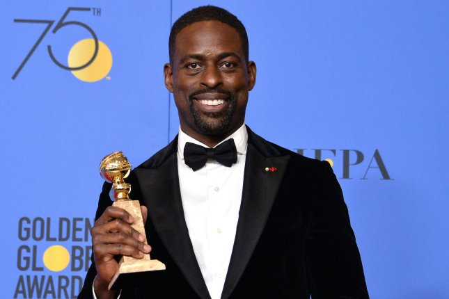 Sterling K. Brown became the first black man to win a Golden Globe for Best Actor in a Drama TV Series Sunday. Aziz Ansari and Oprah Winfrey also made history with award wins. File Photo by Jim Ruymen/UPI