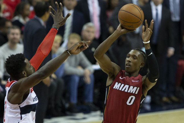 Josh Richardson and the Miami Heat take on the Brooklyn Nets on Tuesday. Photo by Alex Edelman/UPI