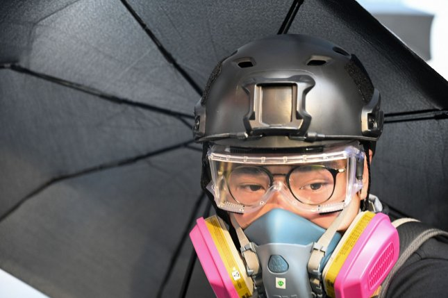 Hong Kong Chief Executive Carrie Lam used a colonial-era law on Friday to implement a face mask ban in an effort to quell increasingly violent protests in the semi-autonomous region of Chian. Photo by Thomas Maresca/UP I