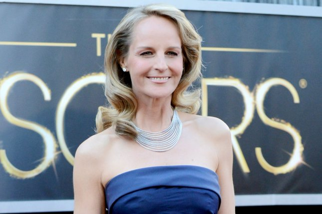 Mad About You star Helen Hunt was taken to the hospital after her car was T-boned and flipped over on its side. File Photo by Kevin Dietsch/UPI