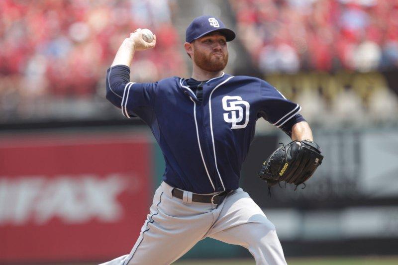 San Diego Padres starting pitcher Ian Kennedy. Photo by Bill Greenblatt/UPI