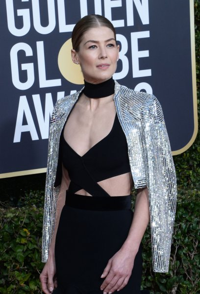 Rosamund Pike attends the 76th annual Golden Globe Awards at the Beverly Hilton Hotel in California on January 6, 2019. The actor turns 42 on January 27. File Photo by Jim Ruymen/UPI