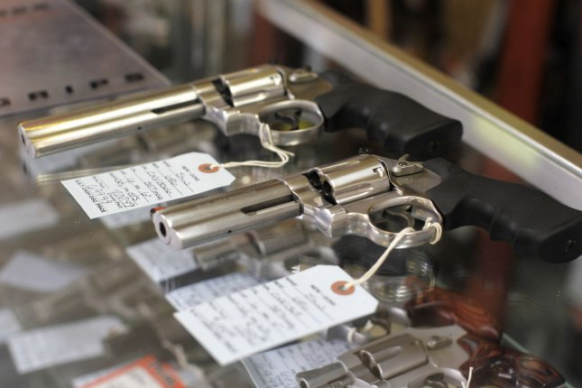 The department also unveiled model legislation for states to fashion red flag laws to prevent guns from ending up in the hands of people who pose a danger to themselves or others.File Photo by Brian Kersey/UPI