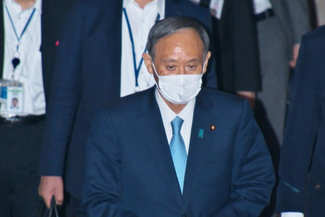 Japan's Prime Minister Yoshihide Suga said COVID-19 restrictions are to be lifted in Tokyo and other parts of the country. File Photo by Keizo Mori/UPI