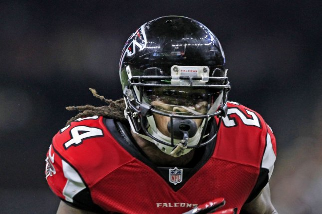 Atlanta Falcons running back Devonta Freeman (24) scores a touchdown on a 7 yard run against the New Orleans Saints on September 26 at the Mercedes-Benz Superdome in New Orleans, La. File Photo by AJ Sisco/UPI