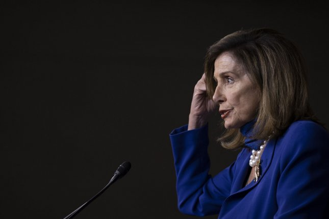 House Speaker Nancy Pelosi said Democrats remain at odds with Republicans and the White House as they continue to fight for an extension of $600 weekly unemployment for Americans in the latest COVID-19 stimulus bill. Photo by Tasos Katopodis/UPI