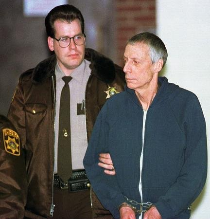 John du Pont leaves the Delaware County Courthouse after a preliminary hearing Feb 9, 1995.