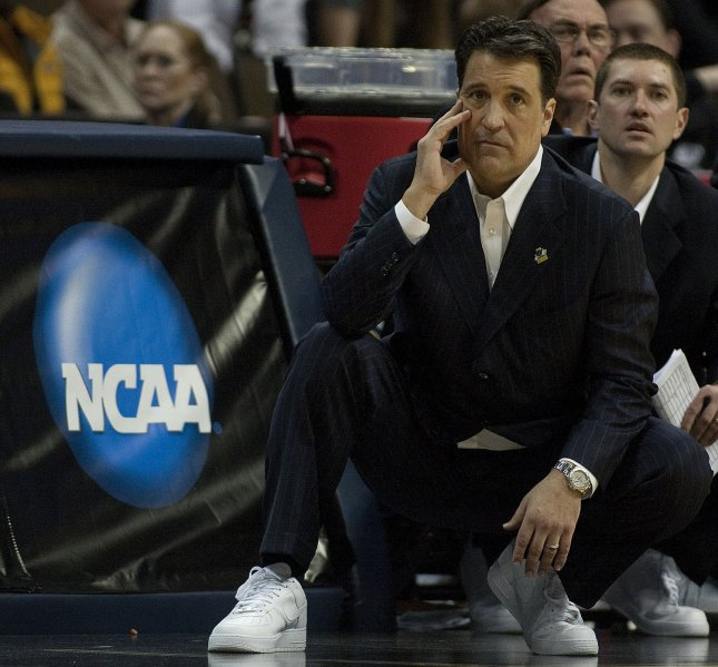 St. John's head coach Steve Lavin, shown during this year's Big East tournament, has been diagnosed with prostate cancer but is expected to continue his coaching duties, the school said Friday. UPI/Gary C. Caskey
