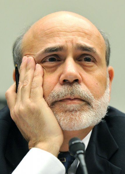 Federal Reserve Board Chairman Ben Bernanke. For the first time in U.S. history, its credit rating has been downgraded, from a AAA to an AA+. UPI/Kevin Dietsch