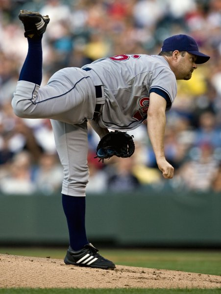 Right-hander Paul Byrd, shown at Coors Field in Denver June 17, 2008. (UPI Photo/Gary C. Caskey)