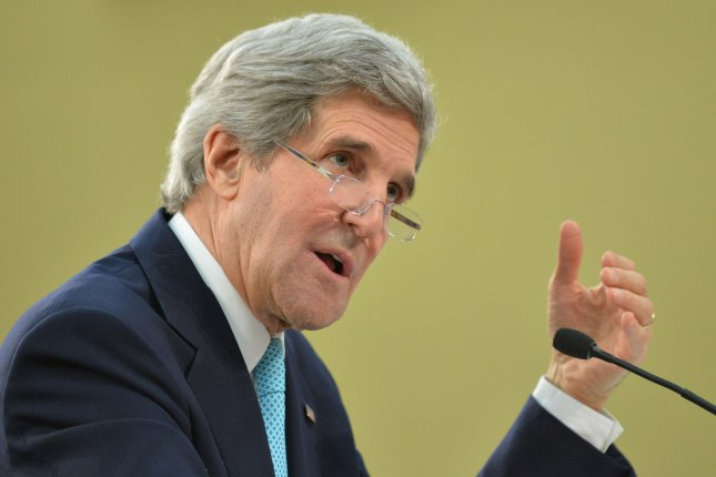 U.S. Secretary of State John Kerry, pictured on March 12, 2014. (UPI/Kevin Dietsch)