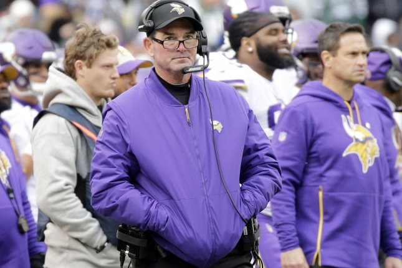 Minnesota Vikings head coach Mike Zimmer. Photo by John Angelillo/UPI