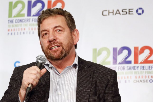 The New York Knicks, owned by James Dolan (pictured), were one of two NBA teams to not put out a statement following the death of George Floyd. File Photo by John Angelillo/UPI