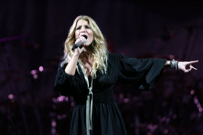 Jessica Simpson performs in concert at Madison Square Garden in New York on February 12, 2009. (UPI Photo/Laura Cavanaugh)