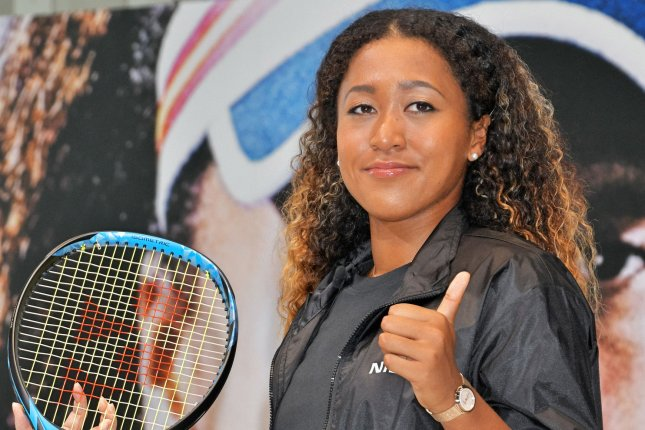 U.S. Open champion Naomi Osaka attends the press conference for Signs Sponsorships with Nissan Motor on Thursday in Yokohama, Kanagawa Prefecture, Japan. Photo by Keizo Mori/UPI