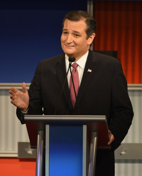 Sen. Ted Cruz R-Texas, participates in the fourth Republican debate Nov. 10 at the Milwaukee Theater in Milwaukee, Wis. He announced plans to initiate legislation in Congress barring Syrian Muslim refugees from entering the United States. Photo by Brian Kersey/UPI
