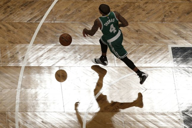 Isaiah Thomas scored 25 points and dished out five assists as Boston scored a 109-100 win over the Indiana Pacers. File Photo by John Angelillo/UPI