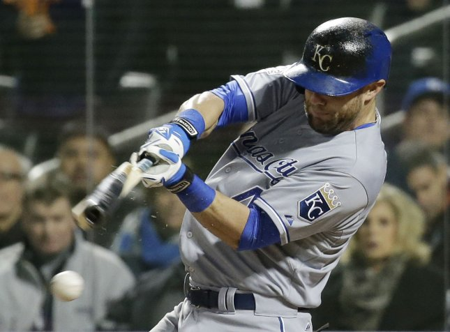 Alex Gordon and the Kansas City Royals erupted for a win over the Minnesota Twins. Photo by John Angelillo/UPI