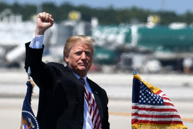 President Donald Trump said in Florida on Tuesday five locations are under consideration for the planned summit with North Korea's Kim Jong Un. Photo by Gary I Rothstein/UPI