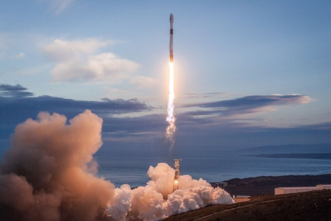 SpaceX successfully launched the eighth and final set of satellites for Iridium's next-generation global satellite constellation, Iridium NEXT, on Friday from Vandenberg Air Force Base in California. Photo by SpaceX/UPI
