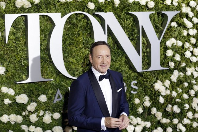 Actor Kevin Spacey, pictured at the 2017 Tony Awards in New York City, is accused in the suit of sexually assaulting two actors when they were 14 years old. File Photo by John Angelillo/UPI