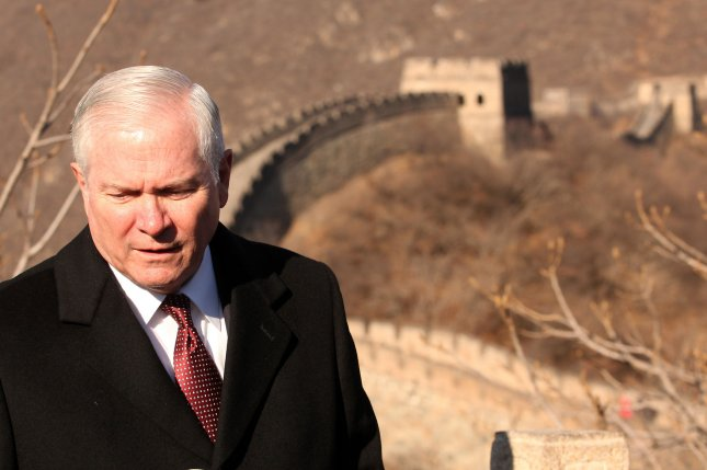 U.S. Defense Secretary Robert Gates speaks to the press while visiting the Great Wall of China in Mutianyu, a few hours north of Beijing January 12, 2011. Gates is in China hoping to bolster uneasy military relations with Beijing, but he also voiced concern over China's latest high-tech weaponry. UPI/Stephen Shaver