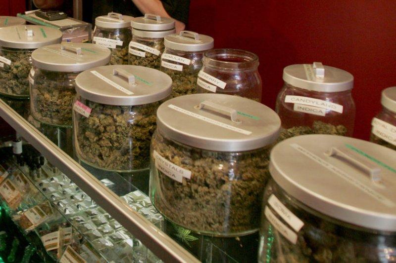 A medicinal marijuana shop (File/UPI Photo/Terry Schmitt)