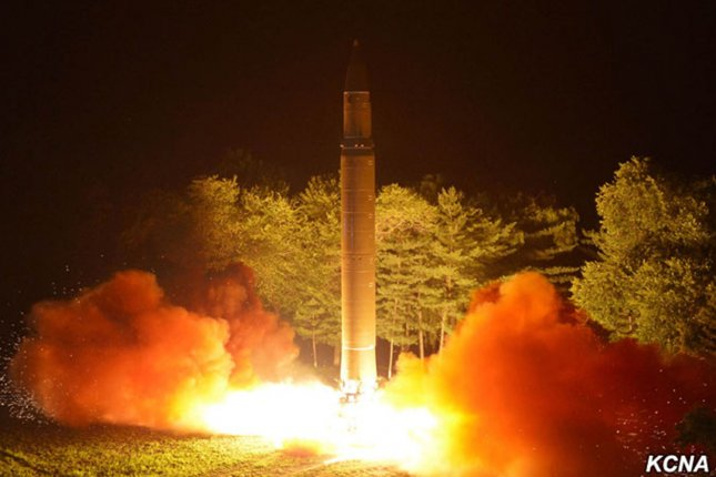 Russia's technology has played an important role in the development of North Korea's missiles and bombs, according to a Japanese press report. File Photo by KCNA/UPI