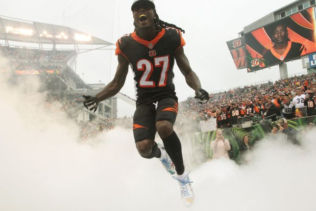 Dre Kirkpatrick appeared in 99 games for the Cincinnati Bengals. File Photo by John Sommers II/UPI