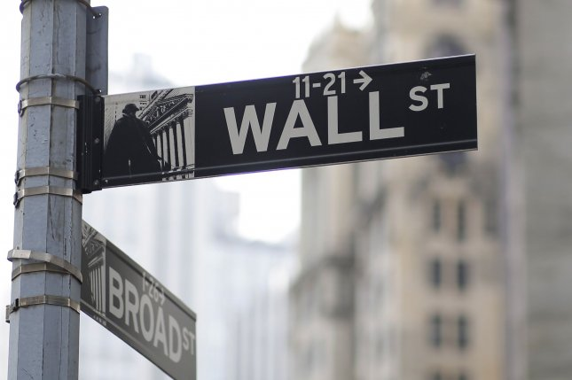 Wall Street is on track for a historically positive week after the Dow closed up more than 285 points Thursday. Photo by John Angelillo/UPI