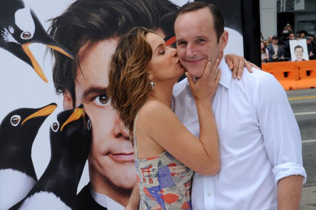 Jennifer Grey (L) and her husband, Clark Gregg, announced they have separated and plan to divorce. File Photo by Jim Ruymen/UPI