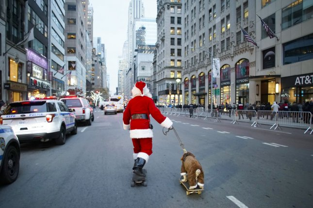 Macy's department stores announced that in-person visits to Santa Claus will be canceled this year, but the store's Santaland would be available online. File Photo by John Angelillo/UPI
