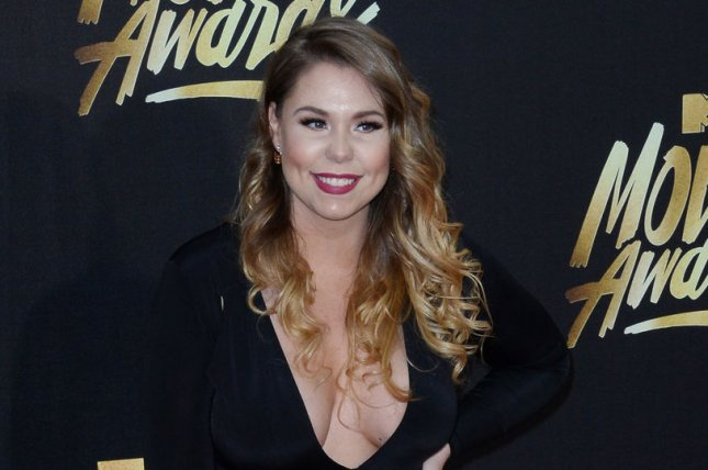 Kailyn Lowry attends the MTV Movie Awards on April 9, 2016. The reality star posted pictures of sons Isaac and Lincoln with Baby Lo on Wednesday. File Photo by Jim Ruymen/UPI